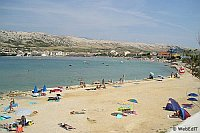 Beaches of the town of Pag